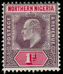 NORTHERN NIGERIA SG11, 1d dull purple & carmine, M MINT. WMK CA