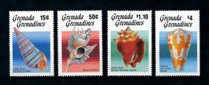 [99663] Grenada Grenadines 1986 Marine Life Sea shells  MNH