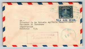 El Salvador 1944 Censor Cover to honduras / Honduras Censor - Z13662