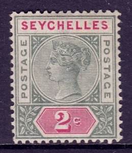 Seychelles - Scott #1 - MLH - Ink offset on reverse - SCV $3.50