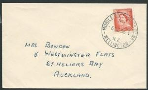 NEW ZEALAND 1956 cover MOBILE PO SAVINGS BANK cds..........................41871