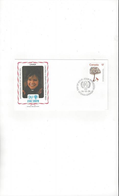 Canada FDC International Year of the Child 1979 Official Cachet