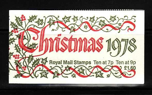Great Britain BK672 Complete Booklet MNH Christmas (B)