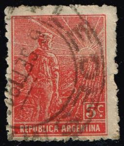 Argentina #194 Farmer and Rising Sun; Used (0.30) (2Stars)