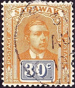 SARAWAK 1922 30 Cents Ochre-Brown & Slate SG71 Fine Used