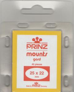 PRINZ CLEAR MOUNTS 25X22 (40) RETAIL PRICE $3.99