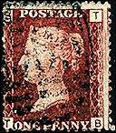 Great Britain Queen Victoria 1p Great Britain #33 Plate 216 T/B Used