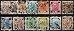 Austria #70a-78a, 79, 80a-82a Used CV $20.75 (X1063)