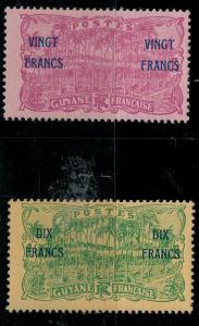 French Guiana 1923 98-99 Mint SCV $65.00 Set