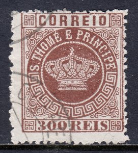 St. Thomas and Prince Islands - Scott #9 - Used - Some lt. creasing - SCV $7.00