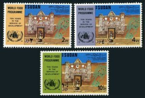 Sudan 266-268,MNH.Michel 301-303. World Food Program,10th Ann.1973.UN & FAO.