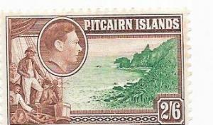 Pitcairn Islands #8   George VI (MLH) CV$15.00
