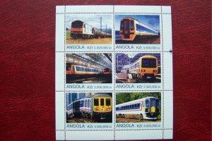 Angola 2000 MNH Trains Locomotives #2
