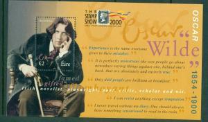 Ireland - Sc# 1237a. 2000 Oscar Wilde Souvenir Sheet Added Inscription. MNH $10.