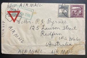 1940s Supply HQ Palestine Australian Forces Censored Cover To Redfern Australia