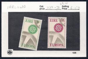 IRELAND Sc#232/233 Unused Mint Lightly Hinged set