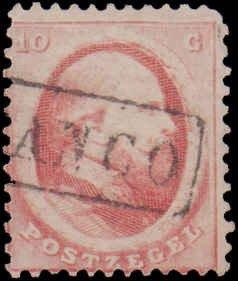 Netherlands #5, Incomplete Set, 1864, Used