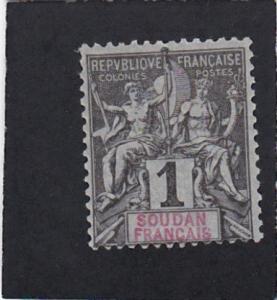 French Sudan #3 unused