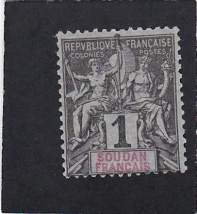 French Sudan #3 unused