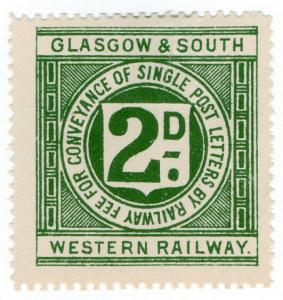 (I.B) Glasgow & South Western Railway : Letter Stamp 2d