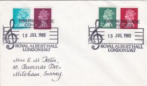 1980 GB Promenade Concerts Royal Albert Hall Special Cancel Cover VGC