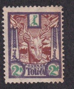 Tannu Tuva # 16, Stag, HInged, 1/3 Cat.