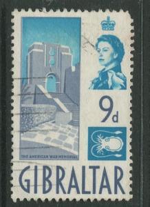 Gibraltar - Scott 155 - QEII Definitive Issue -1960- Used - Single 9d Stamp