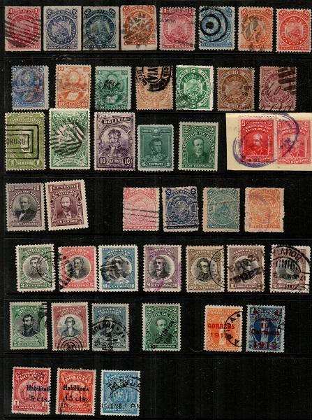 Bolivia - older collection of mostly used, very few faults (CV $132.00)