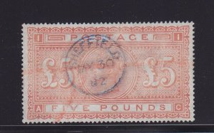 Great Britain Scott # 93 ( SG # 133 ) Rare XF used neat CDS cancel scv $ 5000 !