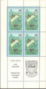 Tuvalu #96-113, Complete Set(14), Sheetlets of 4, 1979, Fish, Never Hinged