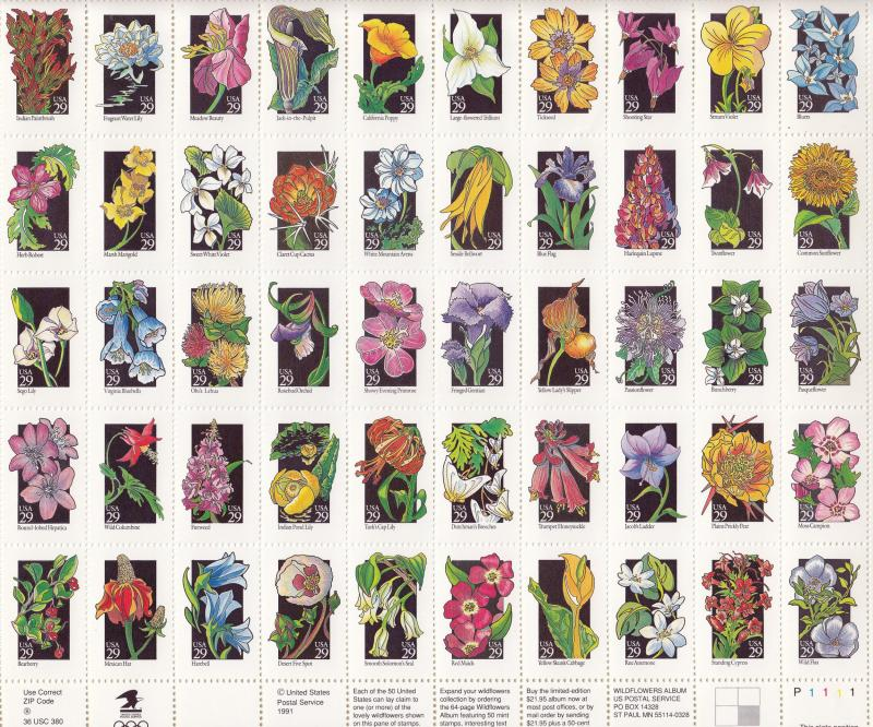 USA - 1992 Wildflowers  Sc# 2647/2696 - MNH (1361)