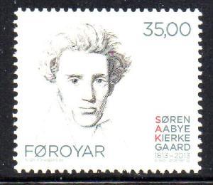 Faroe Islands Sc 600 2013 Kierkegaard stamp mint NH