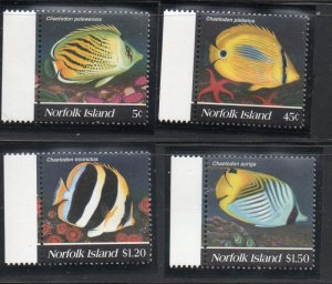 Norfolk Island Sc  577-80 1995 Fish stamp set mint NH