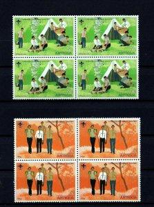 ANTIGUA - 1977 - BOY SCOUT - CARIBBEAN JAMBOREE - 2 X MINT - MNH BLOCKS!