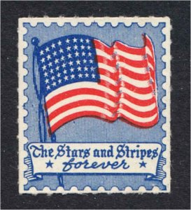 The Stars and Stripes Forever U.S. Flag Patriotic Label Probably WWII