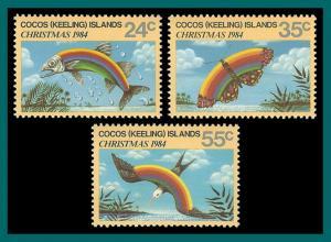 Cocos 1984 Christmas, MNH  #122-124,SG122-SG4