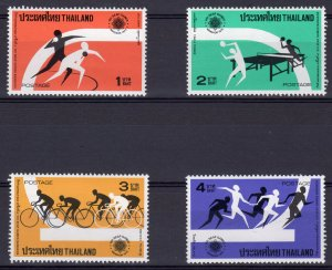 Thailand 1975 Sc#774/777 Table-Tennis-Bicycling-Relay Race-Shot Put Set (4) MNH