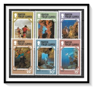British Virgin Islands #327-332 Tourist Publicity Set MNH