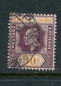 Straits Settlements #120 Used