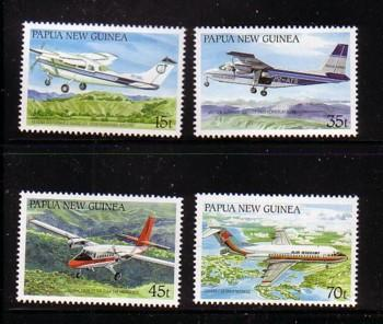 Papua New Guinea Sc686-0 1987 airplane stamps mint NH