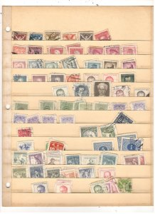 CZECHOSLAVAKIA COLLECTION ON STOCK SHEET, MINT/USED