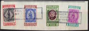 1940 Paraguay, N° 398/401 Centenary Del Stamp Cancellation First Day Su