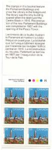 Canada - 1987 Parliament Complete Booklet #BK93 - Library in Foreground - VF-NH