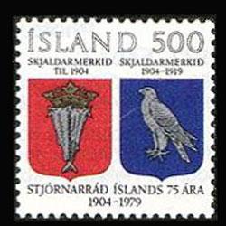 ICELAND 1979 - Scott# 520 Home Rule 75th. Set of 1 NH