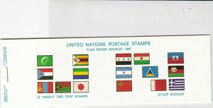 United Nations Mint Never Hinged Flags Stamps Booklet ref R 18480