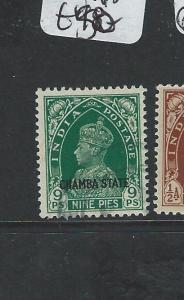 INDIA CHAMBA (P0604B) KGVI 1/2A  SG 84   VFU