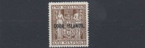 COOK ISLANDS  1951     2/6  BROWN  INVERTED WATERMARK  MH  CAT £55