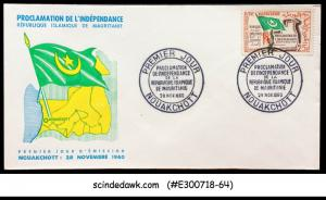 MAURITANIA - 1960 PROCLAMATION OF INDEPENDENCE - FDC