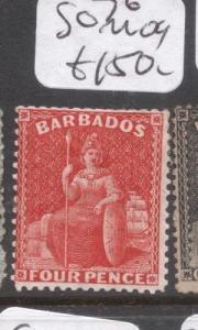 Barbados SG 76 MOG (3dgt)