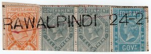 (I.B) India Telegraphs : Receipt Head 4R 12a (Rawalpindi)